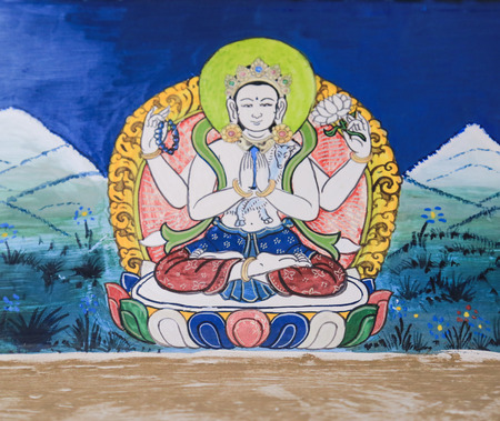 future buddha: Buddha traditional painting Stock Photo