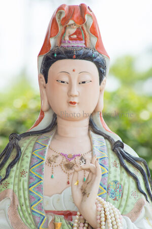 Traditional Colorful porcelain Chinese Goddess photo