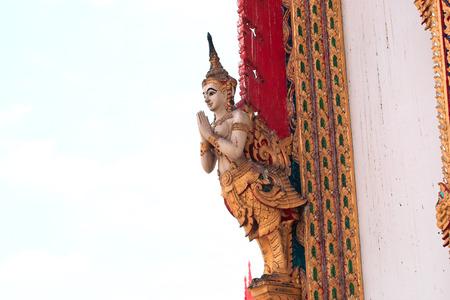 Thai Temple color interior art photo