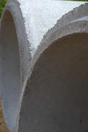 culvert: New concrete tube Stock Photo