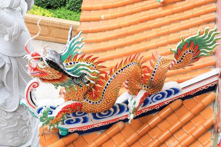 Naja chinese temple at Chonburi, Thailand photo