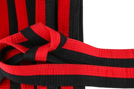 rouge et noir: taekwondo rouge ceinture noire Banque d'images