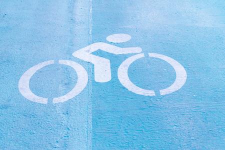 bike lane: Bike lane sign Stock Photo