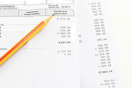pencil on bill