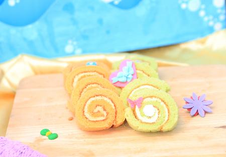 sugar paste: Sweet with sugar paste Stock Photo