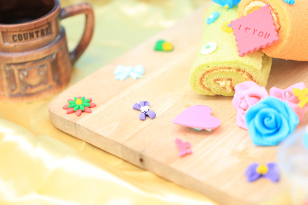 sugarcraft: Sweet and decoration Stock Photo