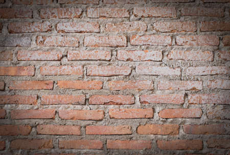 red home brick or old brick wall as wallpaper or background