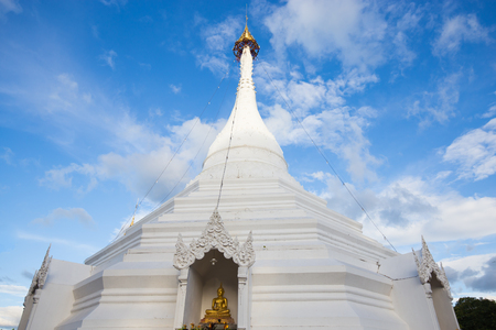 grand son: Wat Phra That Doi Kong Mu temple on a mountain top,Mae Hong Son,Thailand. October 2016