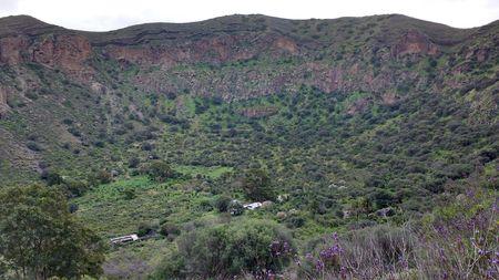 Caldera de Bandama - volcanic landscape of Gran Canaria, Canary Islands, Spain