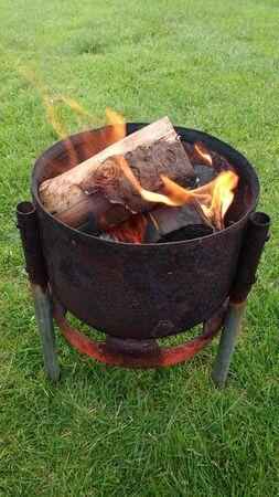 Fire Pit on Grass