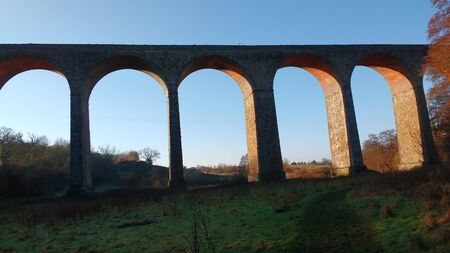 Pensford Viaduct, Walking Route, Winter Season, UK 版權商用圖片 - 137840109