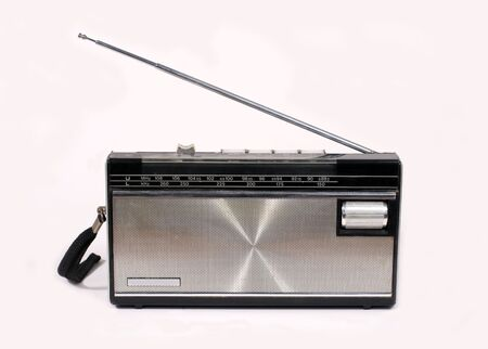 fm: Portable AMFM radio of seventies and eighties style Stock Photo