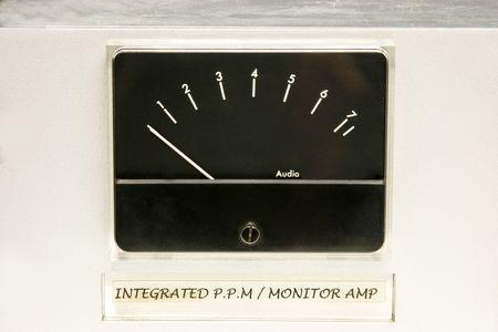 Studio audio level meter photo