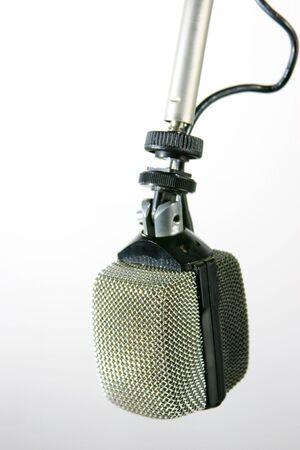radio microphone: Old fashioned studio radio microphone Stock Photo