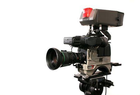 glitz: Professional Studio Television camera Stock Photo