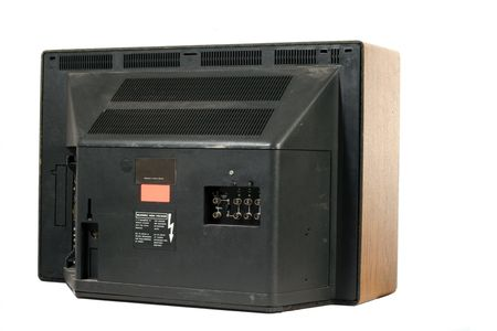 Seventies style TV Back view photo