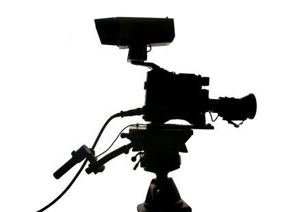 ccd: studio television camera Silhouette Stock Photo