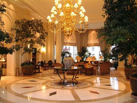 lobbies: Luxury Hotel lobby reception area