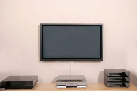 hi resolution: 42 pulgadas de alta resoluci�n Home Cinema pantalla de plasma y equipos de audio
