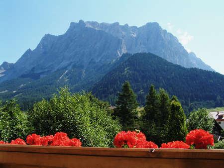 Zugspitze Alp from Ehrwald hotel Stock Photo - 333958
