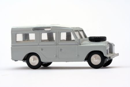 dependable: Scale model of 1960s Long Wheelbase Safari Landrover