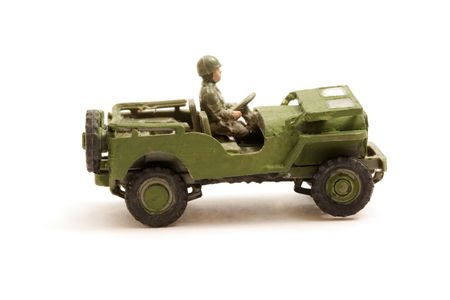 infantryman: Scale Model toy Jeep