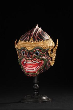 wat bowon: Thai classical masked ballet in Thailand Stock Photo