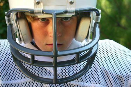 uniforme de futbol: Joven en el f�tbol uniforme