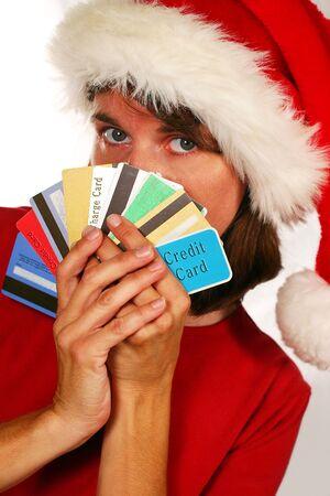 Kreditkarten werden Weihnachten (Ferien-Ausgaben und Schulden