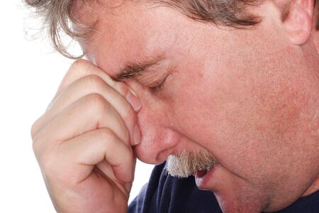 Closeup of a man with troubles Stock Photo