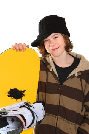 A snowboarder waits to go snowboarding Stock Photo - 2737860