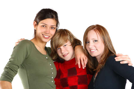 Three young people embrace each other. Stock Photo - 2737917
