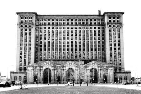 Une photo en noir et blanc de la Gare de Detroit de l'image est isolé Banque d'images - 2735744