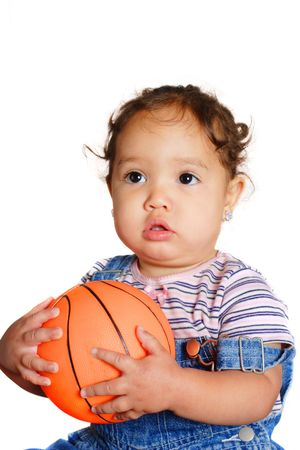 An african american toddler holding a ball Stock Photo - 2873989