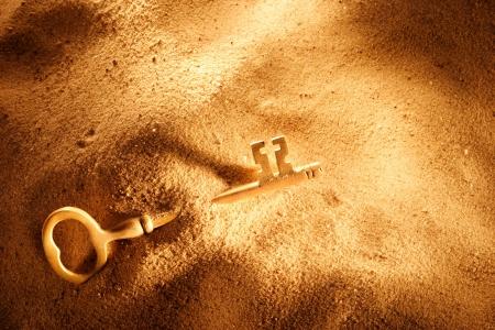 모래 마운드의 해골 키