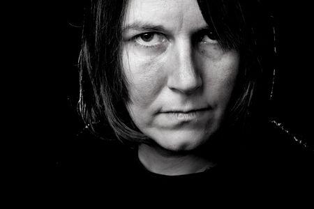 Imagen en blanco y negro de una mujer mayor  Foto de archivo - 3051330