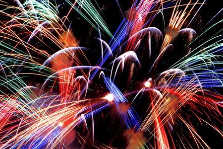 a close-up of fireworks  Reklamní fotografie