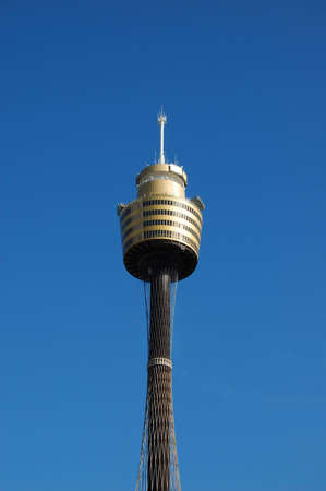 centrepoint tower: Sydney centrepoint tower against a blue sky