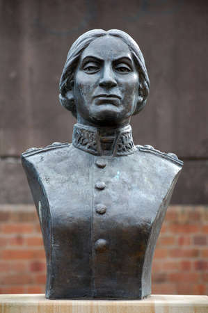padilla: Statue of Juana Azurduy de Padilla - Guerilla fighter for the independence of Bolivia from spanish rule Stock Photo