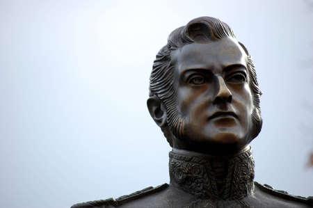 the liberator: Statua del generale Jos� de San Martin - eroe nazionale Argentina