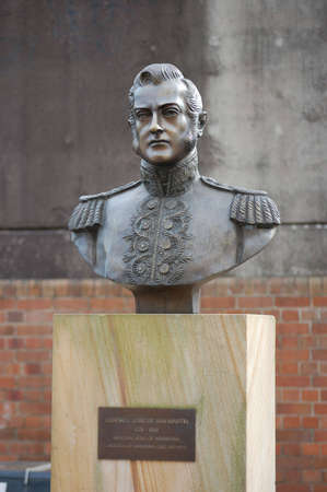 jose de san martin: Statue of General Jose de San Martin - National hero of Argentina