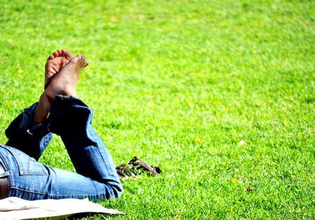 let on: Descansando en el parque