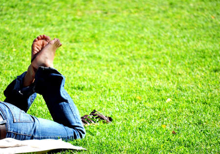 escapism: Relaxing in the park Stock Photo