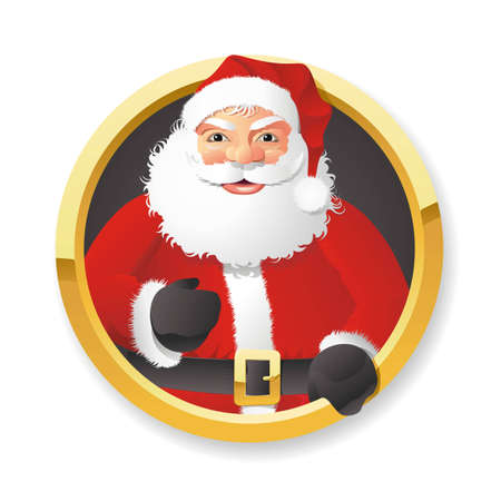 A fully scalable vector illustration of Santa Claus on white background