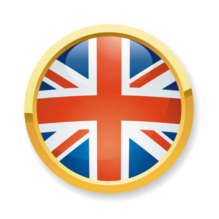 flag button: A fully scalable vector illustration of England flag button