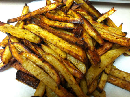 Spicy homemade French fries