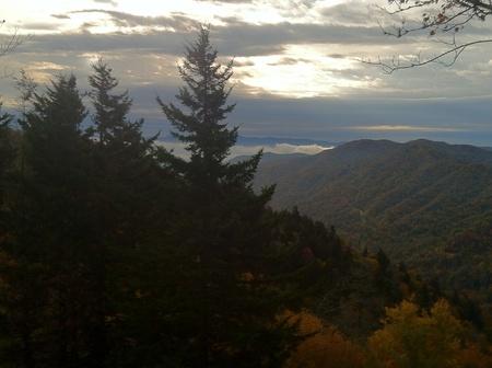 newfound gap: Sunrise from Newfound Gap