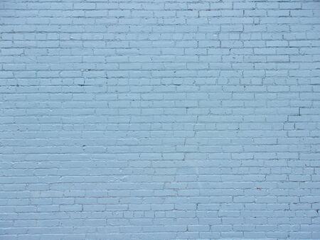 Blue brick wall on inner city building 5