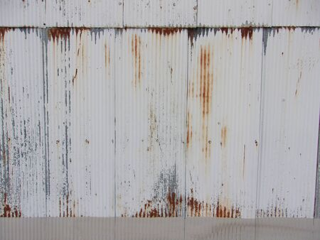 Rusty metal wall on building exterior in the city 3