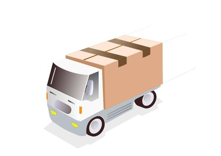 svg: jpeg image from svg vector. illustration of cargo truck. Stock Photo